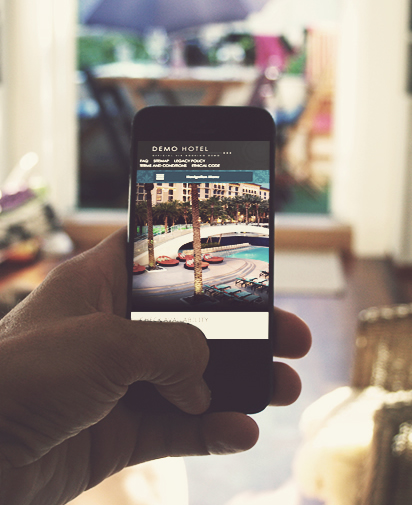 Hotel and b&b Website Smartphone