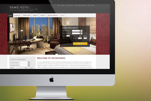 Hotel and B&B website