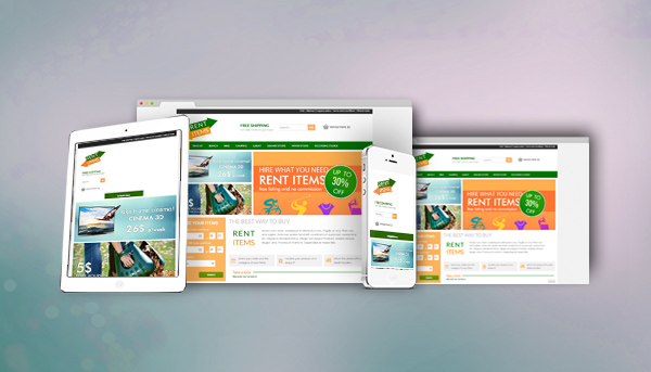 Rental items Website Responsive